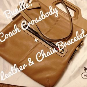 Coach Handbags - BUNDLE: Coach Crossbody + Chain Bracelet