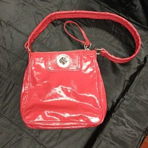 Marc Jacobs coral patent bag