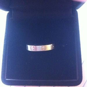 Authentic 18K white gold cartier love ring size 49