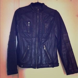DKNY genuine leather biker jacket