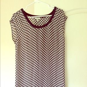 Joie blue and white houndstooth silk dress