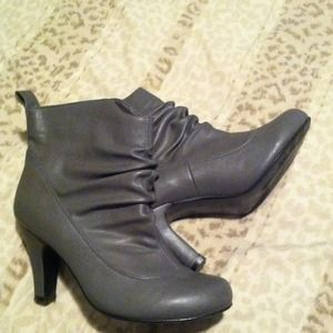 Boots - CUTE GREY BOOTIE ANKLE BOOTS