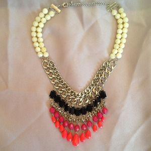 Neon bib necklace