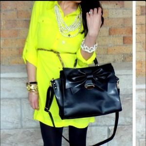 Forever 21 Dresses & Skirts - Neon yellow shirt dress