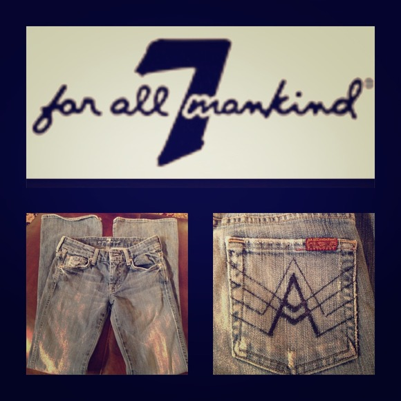 7 for all Mankind Denim - 7 for all Mankind distressed A pocket jean