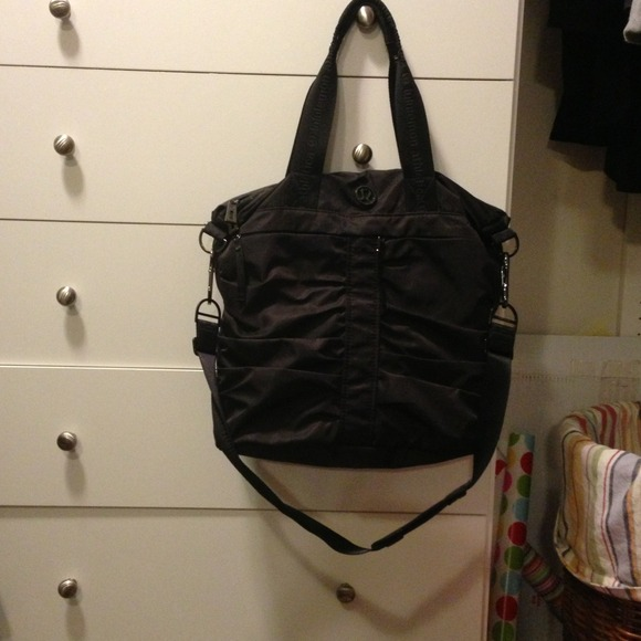 cdaf437c6d7 lululemon athletica Handbags - Lululemon Fast in Flight Black Tote Bag