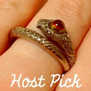 Jewelry - Host Pick 10/21 - Snake Statement Ring Silver