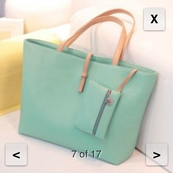 Super cute mint tote bag for school! Brand new! OS from Nga's ...