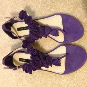 Zara Purple Ruffle Sandal