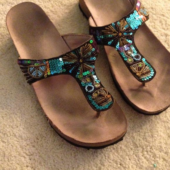 Shoes | Sequin Sandals | Poshmark