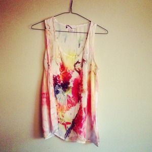 Tops - Silky Colorful Racer Back Top!
