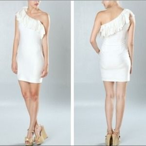 Off White Fringe Dress