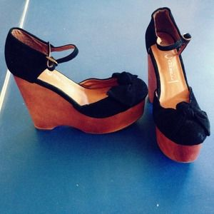 JEFFERY CAMPBELL Daisy D Platform Wedges: New!