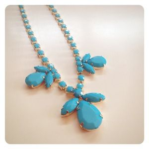 Blue Gemstone Statement Necklace
