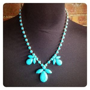 Jewelry - HALF OFF SALE | Blue Gemstone Statement Necklace