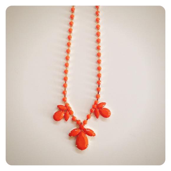 Jewelry - HALF OFF SALE | Bright Orange Statement Necklace