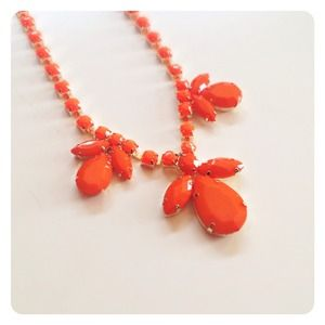 HALF OFF SALE | Bright Orange Statement Necklace