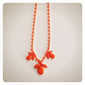 Jewelry - HALF OFF SALE | Bright Orange Statement Necklace