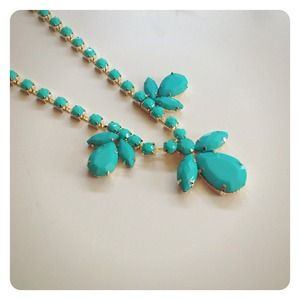 HALF OFF SALE | Teal Statement Necklace