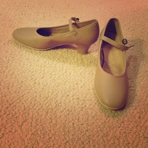 Shoes - Nude colored dance shoes.