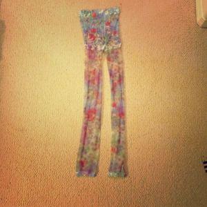 Accessories - Super sheer floral leggings