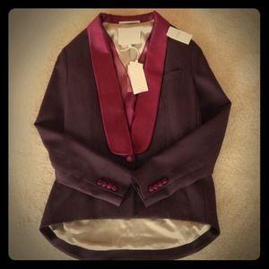 Phillip Lim tuxedo blazer in black cherry