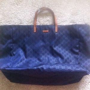 13bb4efd5a Gucci Bags | Navy Blue Tote Bag | Poshmark