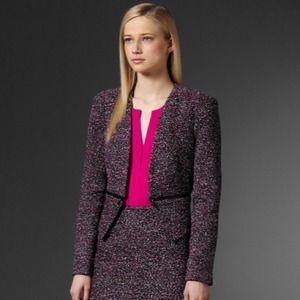 Calvin Klein tweed suit jacket, Sz 2, Worn once!