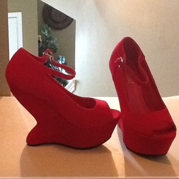 71% off Shoes - Stylish red wedge heels. from Danette's closet on ...