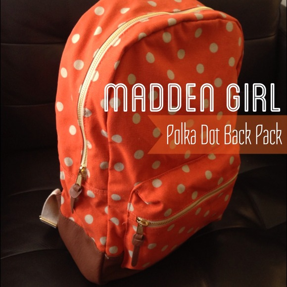 08ea74581 Steve Madden Bags | Madden Girl By Polka Dot Backpack | Poshmark