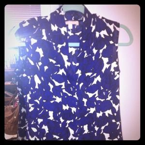 Banana Republic sleeveless floral print blouse