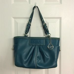 RESERVED for @tinayken / Coach dk teal leather bag