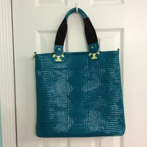 Justfab teal tote purse
