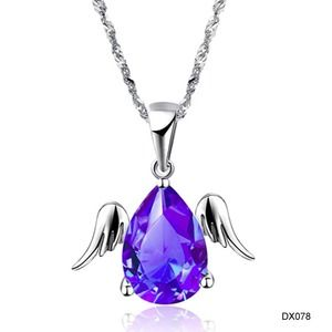 Jewelry - Super cute white gold angel tear wings necklace