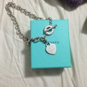 Tiffany & Co Heart tag toggle necklace