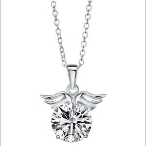 Jewelry - Sterling steel Angel's wing necklace