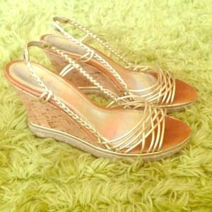 Cole Haan Gold - rope cork wedge 7.5