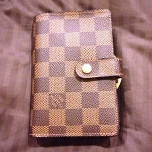 💯Authentic LV Damier Ebene French Wallet