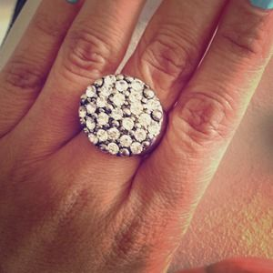 NEW Faux Pave Cocktail Ring
