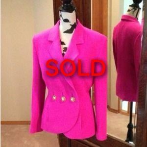 Louis Feraud Jacket in Pink Sz 10 (fits like 8)