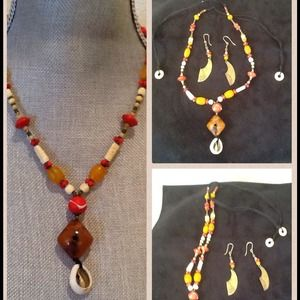 Jewelry - Multi color Earring Necklace set