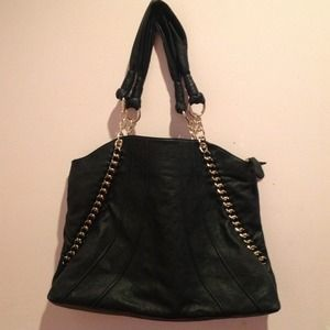 NEW Deux Lux Black Faux Leather Purse