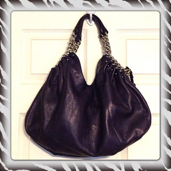 Makowsky Handbags - Purple B Makowsky Leather Handbag Croc pattern 2