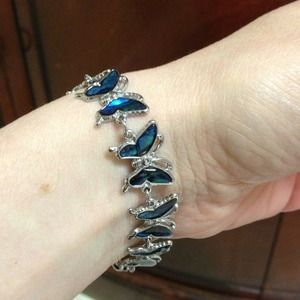 Jewelry - Reduced- Butterfly bracelet- pretty blue!