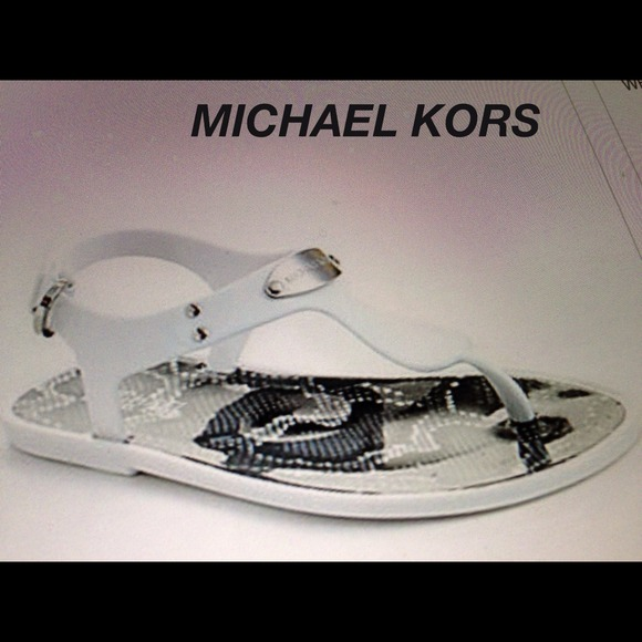MICHAEL Michael Kors Shoes - ❤❤❤Flash sale-M.Kors T-Strap Jelly Sandals. White