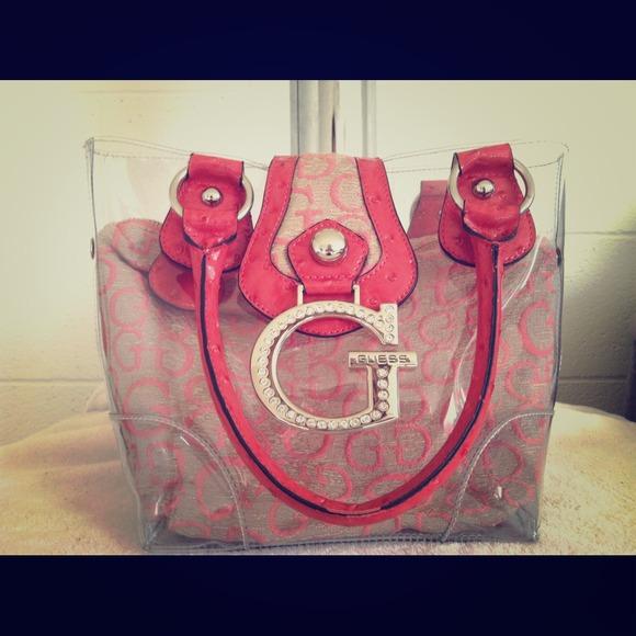 df3adf6b0876 Guess Handbags -   Authentic   Guess Clear Handbag