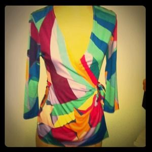 ❗SALE❗DVF Wrap Blouse