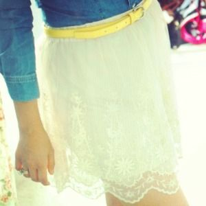 Cream lace skirt!!!!