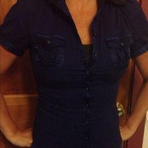 REDUCEDBeautiful blue detailed blouse