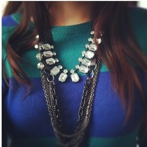 Jeweled OLD NAVY ribbon necklace!